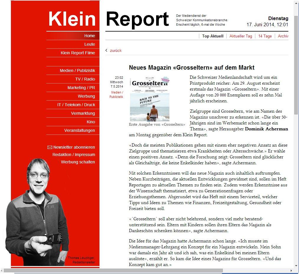 Kleinreport 140617
